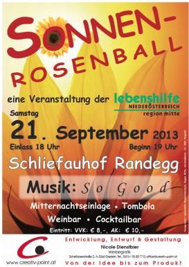 Plakat Sonnenrosenball 2013