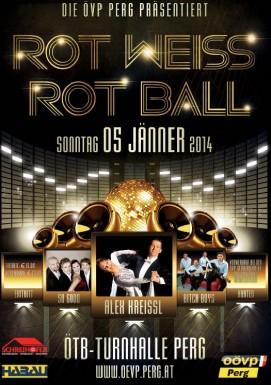 Plakat Rot-Weiß-Rot-Ball Perg 2014