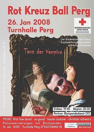 Plakat Rot-Kreuz-Ball Perg 2008